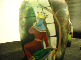 set of 10 Russian Wooden Hand Painted Nesting Dolls Medieval Soldiers vintage image 3