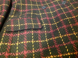 jones new york size 12 color blue with yellow and maroon lines coat blazer woman image 10