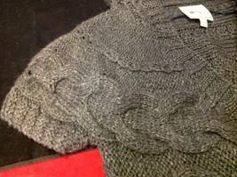 pink rose dark grey short sleeve sweater size large image 4
