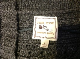 pink rose dark grey short sleeve sweater size large image 5