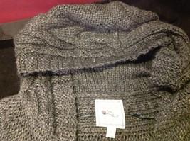 pink rose dark grey short sleeve sweater size large image 7