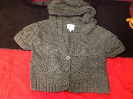 pink rose dark grey short sleeve sweater size large image 8