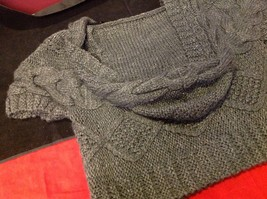 pink rose dark grey short sleeve sweater size large image 11