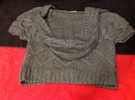 pink rose dark grey short sleeve sweater size large image 9