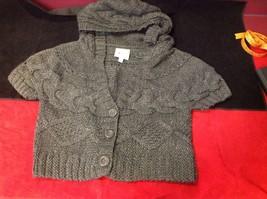 pink rose dark grey short sleeve sweater size large image 2