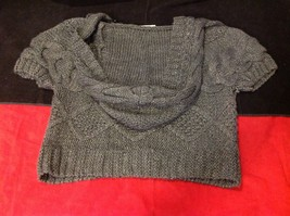 pink rose dark grey short sleeve sweater size large image 10