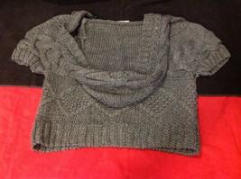 pink rose dark grey short sleeve sweater size large image 10