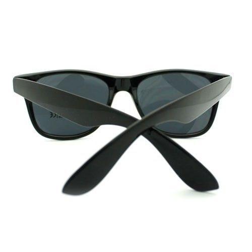 Classic Black Square Sunglasses Vintage Horn Rimmed Designer Fashion