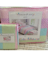 MAGGIE AND ZOE POLKA DOT TWIN QUILT AND PILLOW SHAM NWT - $80.00