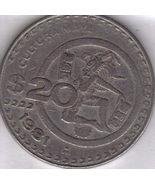 1981 Mexican 20 Peso (CULTURA MAYA) Coin - $1.95