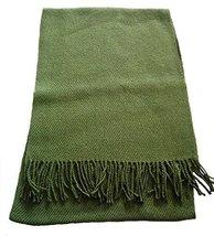 "Alpakaandmore Unisex-adult Baby Alpaca Wool Woven Scarf 63""x 12"" Green - $1.013,76 MXN"