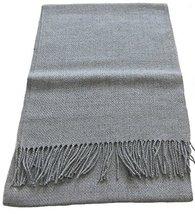 "Alpakaandmore Unisex-Adult Baby Alpaca Wool Woven Scarf 63""x 12"" Grey - $1.013,76 MXN"