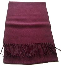 "Alpakaandmore Unisex-adult Baby Alpaca Wool Woven Scarf 63""x 12"" Wine Red - ₨3,520.06 INR"