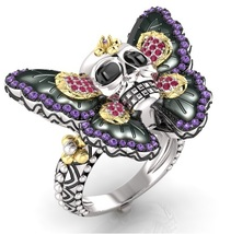 Skull Engagement Ring Temple of the Ancient Dra... - $679.00