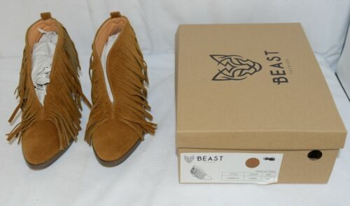 Beast Fashion Carrie 01 Camel Fringe Slip On Shoes Size 5 And Half