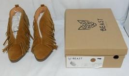 Beast Fashion Carrie 01 Camel Fringe Slip On Shoes Size 5 And Half image 1