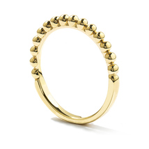 Yellow Gold Finishing Fashion Solid .925 Sterling Silver Bar Beaded Band Ring - £31.85 GBP