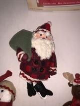 Hallmark Keepsake Ornament Santa And His Sweetest Friends Set Of 4  2002 - $7.50