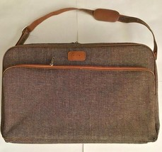 SAMSONITE Special Collection Brown Tweed Carry On Shoulder Crossbody Tra... - $29.99