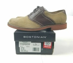 """Bostonian Men's """"Wallbridge"""" 26982 Sand Suede Brown Smooth Casual Shoes 10M  - $38.78"""