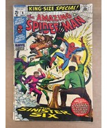 The Amazing Spider-Man #King Size Special #6 Original 1969 Marvel Comic ... - $39.99