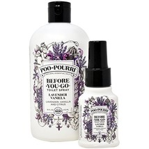 Poo-Pourri Lavender Vanilla 16-Ounce Refill Bottle,and 1.4-Ounce Lavender Vanill