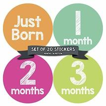 Baby Monthly Milestone Stickers - First Year Set of Baby Girl Month Stic... - $14.95