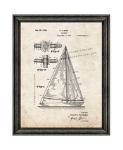 Sailboat Patent Print Old Look with Black Wood Frame - $24.95+