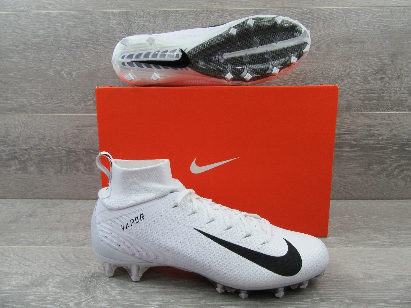 the latest dda98 64b4f Nike Vapor Untouchable Pro 3 Football Cleats Size 11 White Black 917165 105  New