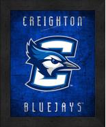 "Creighton Blue Jays ""Retro College Logo Map"" 13x16 Framed Print  - $39.95"