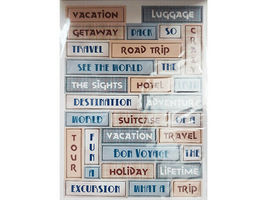 """DCWV """"Travel"""" Chipboard Sticker Stack, 75 Pieces #QS-01 2-00006 image 5"""