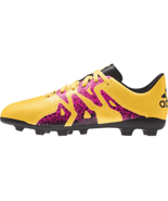 adidas Kids X 15.4 FG J Soccer Shoe Gold/Black 6 #NCKFZ-M256 - $19.99