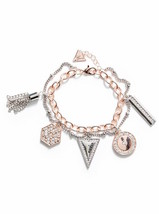 NWT Guess Rose-Gold & Silver Metals-Clear Rhine... - $21.77