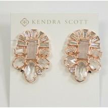 Kendra Scott Huckaby Rose Gold Crystal Cats Eye Stud Earrings NWT - $83.66