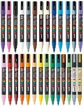 Uni Posca PC-3M Paint Marker Pen - Full Range 27 pen Set - $94.52