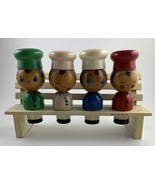 Vintage Ucagco Wooden Spice Set w/Holder - €16,77 EUR