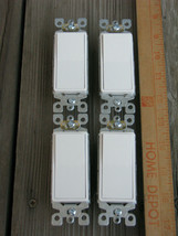 4 @ Leviton 5601-2WM 15Amp 120/277V Decora Rocker White AC Quiet Switch - $17.99