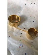 STEELTIME 18 K Gold Plated Stainless Steel Double Ring Sz 8 - $23.99