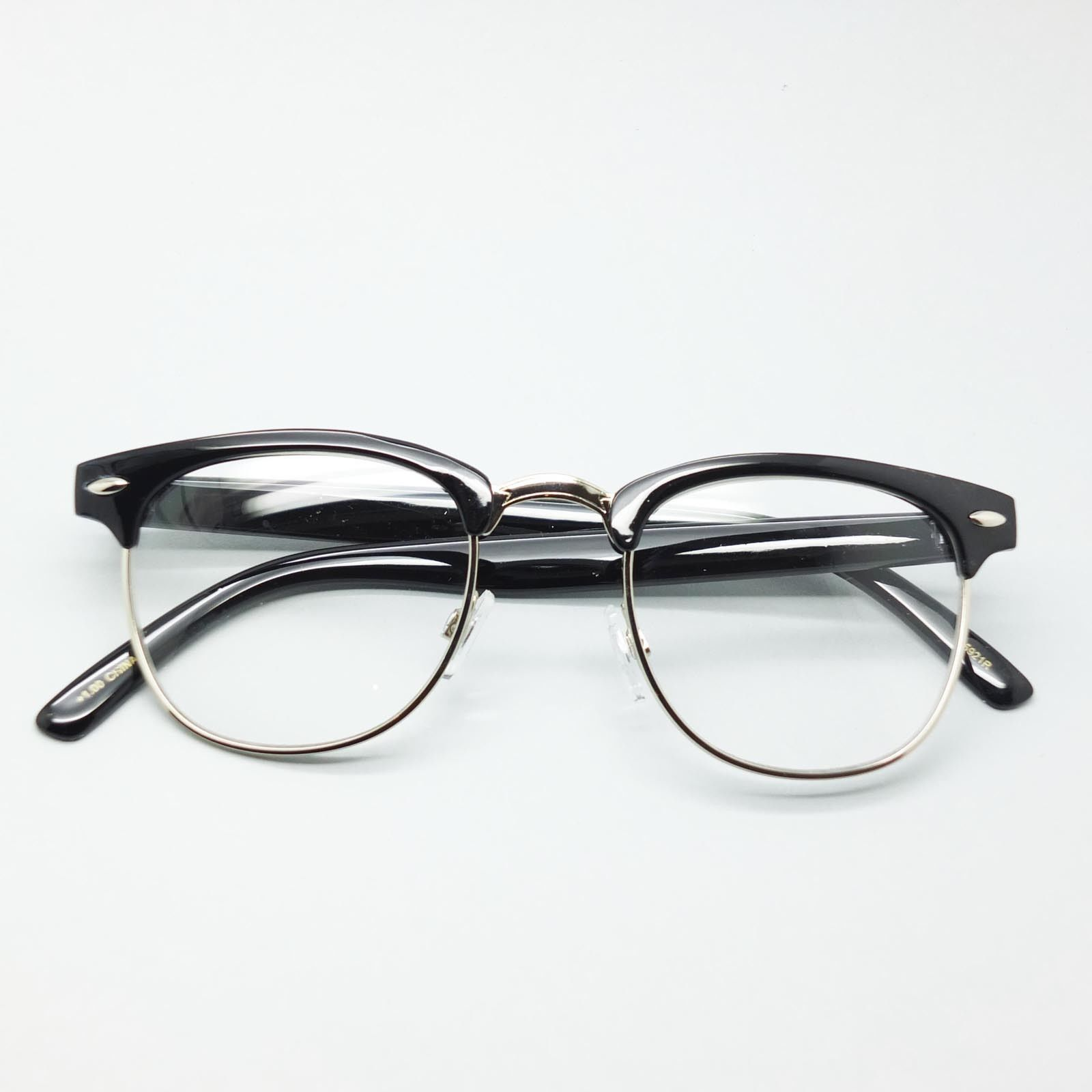 Reading Glasses Interview Reporter Style Mens Half Rim Black Frame +3.00 Lens