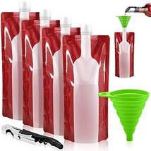 Foldable Wine Bag, 750 ml, Portable Reusable Plastic Wine Bottle Pouch, ... - $14.55