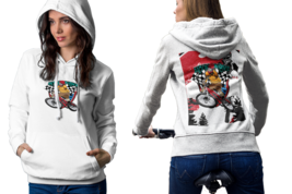MTB Down hill Bicycle Womens White Classic Hoodie - $30.99+