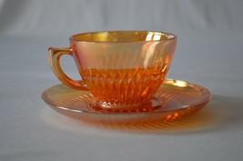 Jeannette Glass Anniversary Iridescent Cup & Saucer - $6.44