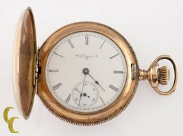 Elgin Grade 206 Full Hunter Gold Filled Pocket Watch 7 Jewel Size 6s 1903 - $202.23