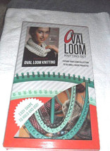 Leisure Arts Ultimate Oval Loom Beginners Guide Stitching Tool Knitting Set - $22.17 CAD