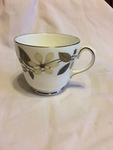 Wedgwood BEACONSFIELD W4281 Footed Cup Floral Cream w/Flowers Tea Coffee Mug - $6.79