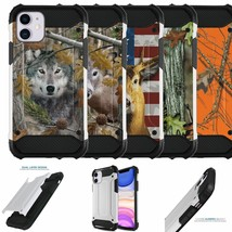 """Case For [iPhone 11 (6.1"""")[DUO WHITE ARMOR SET13] Combat Dual Layer Cover - $10.78"""