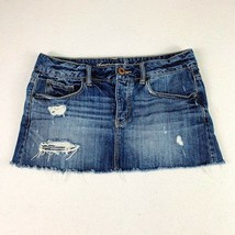 American Eagle Distressed Denim Skirt Size 6 Short Skirt - $23.75