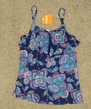 Gymboree Safari Twirl Floral Flower Ruffle Tank Top Shirt Size 7 - $18.54