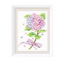 PANDA SUPERSTORE Beautiful Flower DIY Cross Stitch Stamped Kits Pre-Printed 11CT