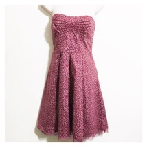 American Eagle Outfitters Dress Size 6 Strapless Pink Floral Cotton - $14.85